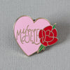 Myself Heart Enamel Pin