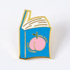 Real Books Have Curves Enamel Pin