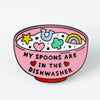 Spoons in the dishwasher Heart Enamel Pin