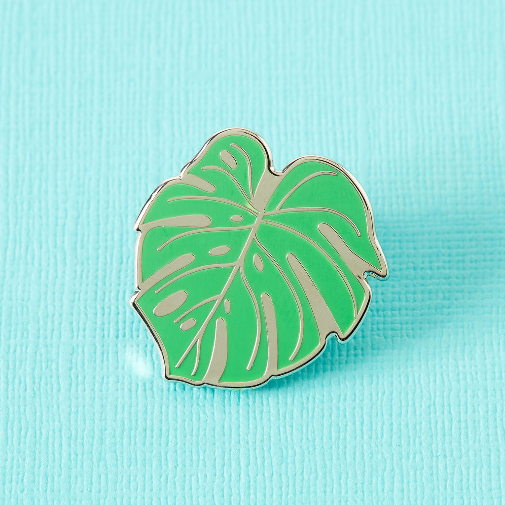 Monstera Cheese Plant Leaf Enamel Pin