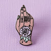 IOU Tattooed Hand Enamel Pin