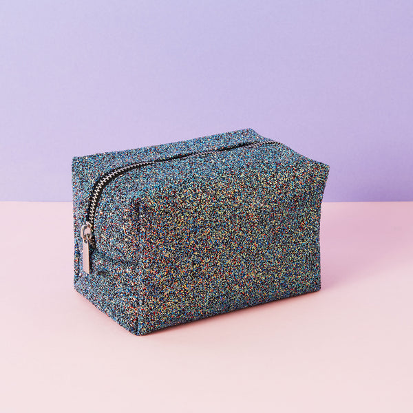 Black Glitter Make Up Bag