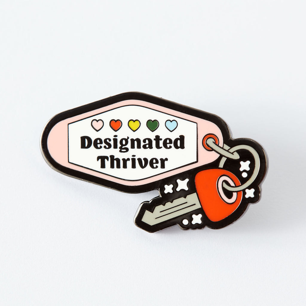 Designated Thriver Enamel Pin