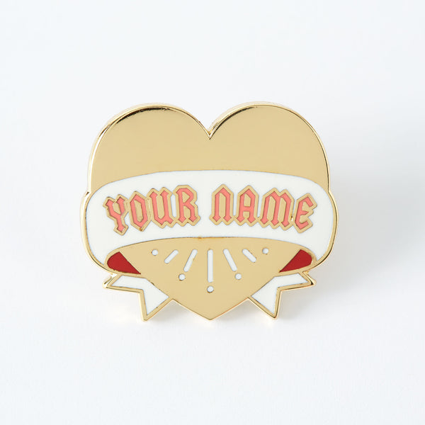 Your Name Heart Enamel Pin