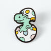 Happy Little Dinosaur in Egg Enamel Pin