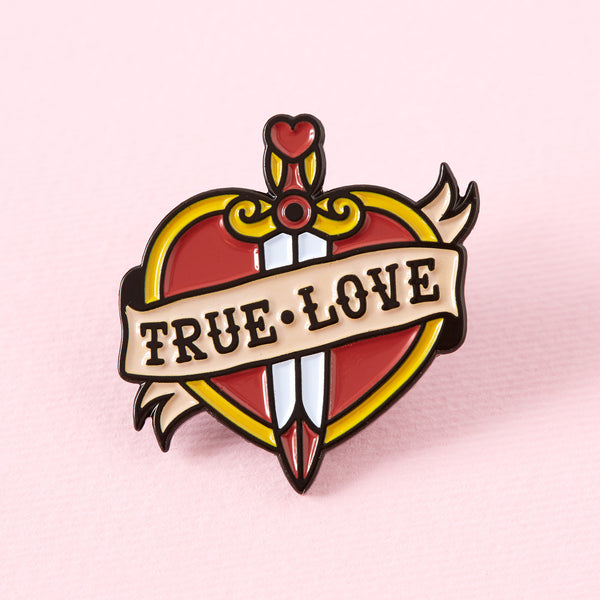 True Love Tattoo Inspired Enamel Pin
