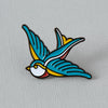 Swallow Tattoo Inspired Enamel Pin