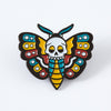 Death Head Moth Tattoo Inspired Enamel Pin