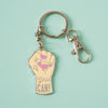 Girls Can Enamel Keyring