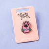 Dog Lady Enamel Pin