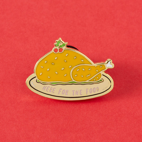 Here For The Food Enamel Pin