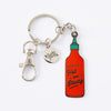 Hot and Saucy Enamel Keyring