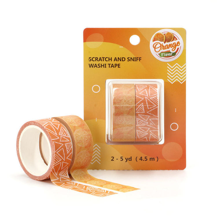 Orange Scented Scratch and Sniff Washi Tape
