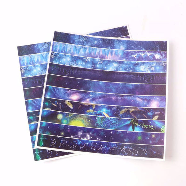 Starlit Sky and Constellation Washi Tape Strip Stickers