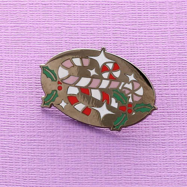 Candy Canes Enamel Pin