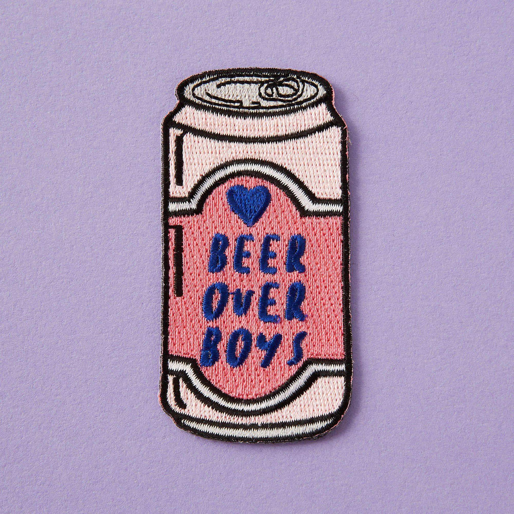 Punky Pins Beer Over Boys Embroidered Iron On Patch