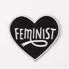 Punky Pins Black Feminist Heart Embroidered Iron On Patch