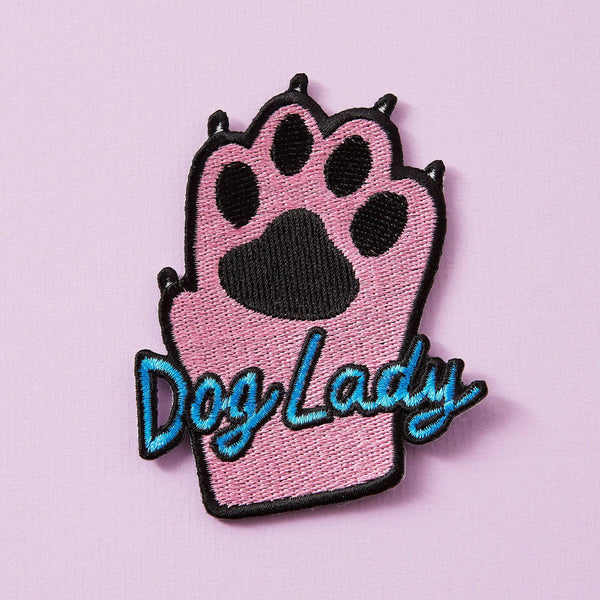 Punky Pins Dog Lady Iron On Patch