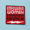 Punky Pins Empowered Women Embroidered Iron On Patch