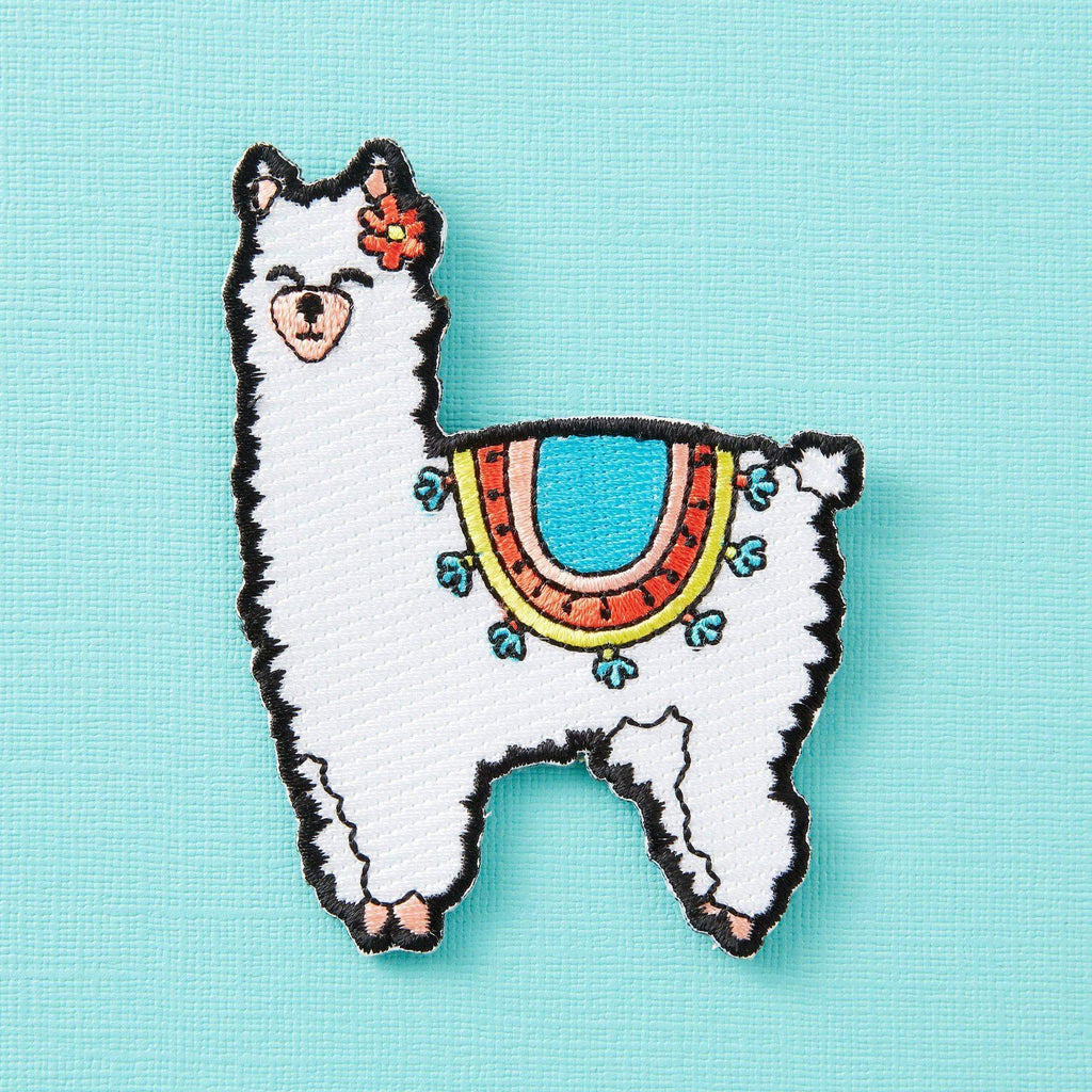 Punky Pins Fluffy Llama Embroidered Iron On Patch