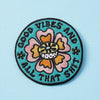 Punky Pins Good Vibes & All That Shit Embroidered Iron On Patch