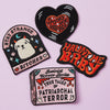 Punky Pins Haunt Me Baby Iron on Patch