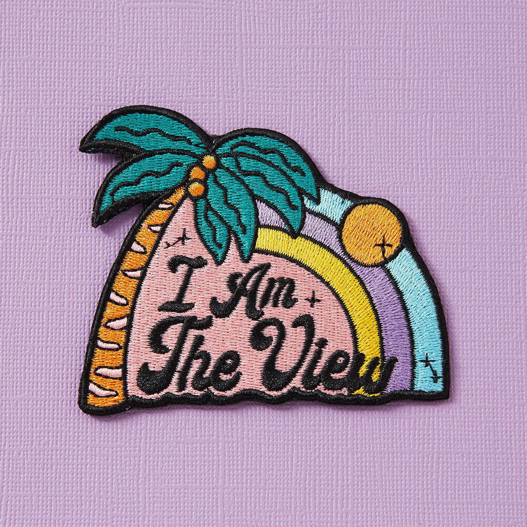 Punky Pins I Am The View Embroidered Iron On Patch
