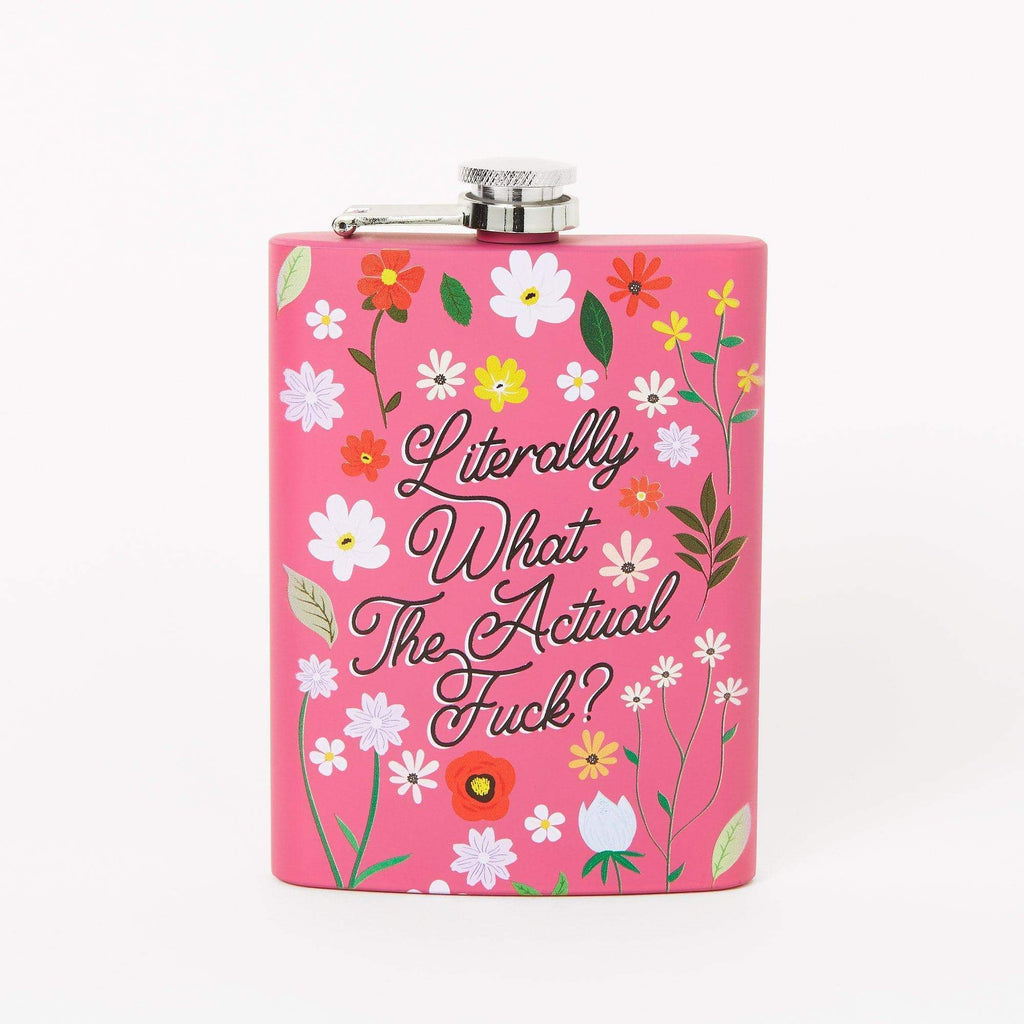 Punky Pins Literally What The Actual Fuck Hip Flask - Pink