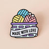 Punky Pins Made With Love Basket Enamel Pin