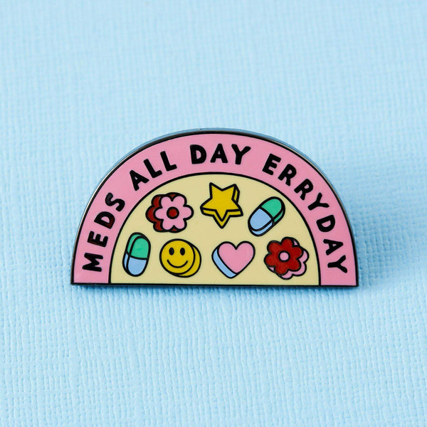 Punky Pins Meds All Day Enamel Pin