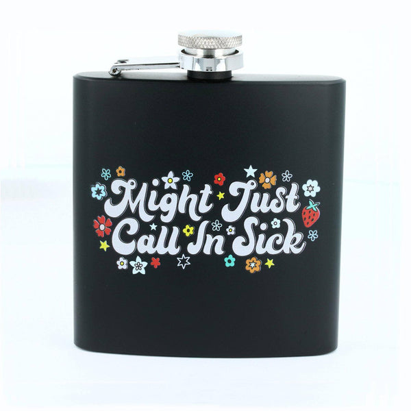 Punky Pins Might Just Phone In Sick Hip Flask