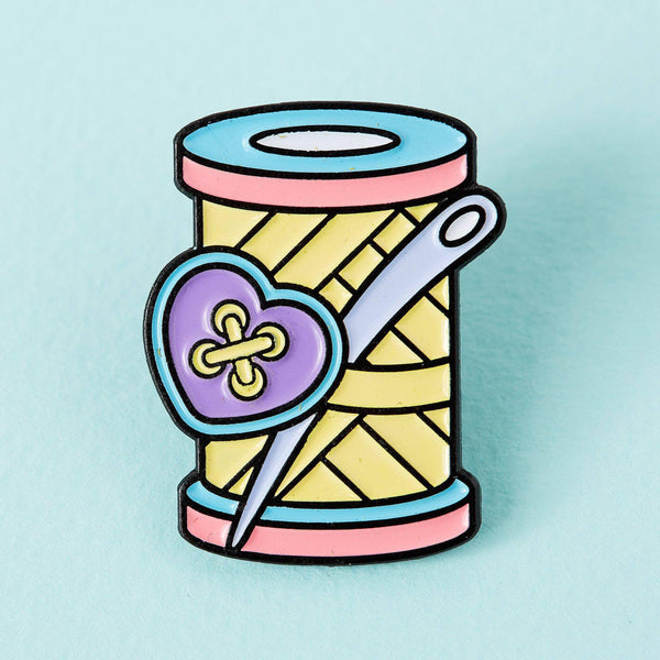 Punky Pins Needle & Thread Enamel Pin