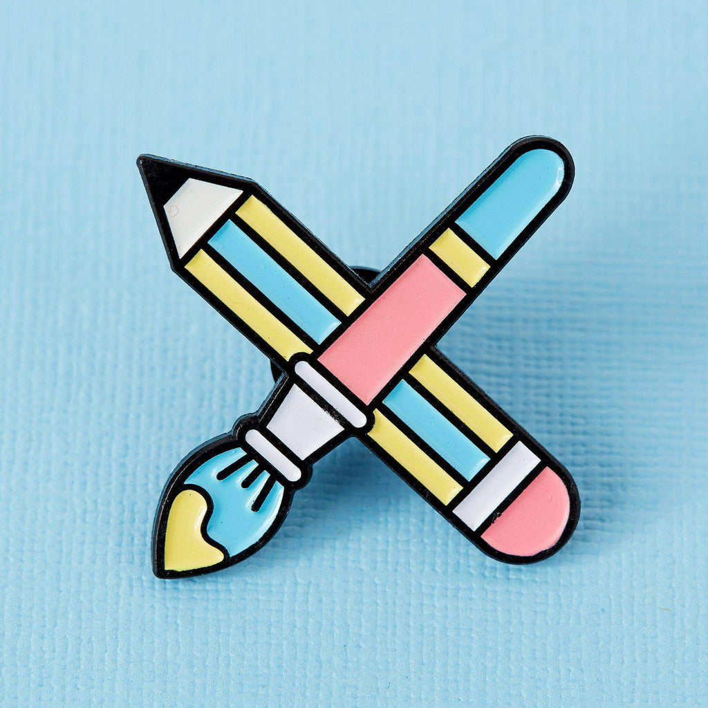 Punky Pins Paintbrush & Pencil Enamel Pin