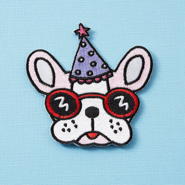 Punky Pins Party Pooch Iron On Patch