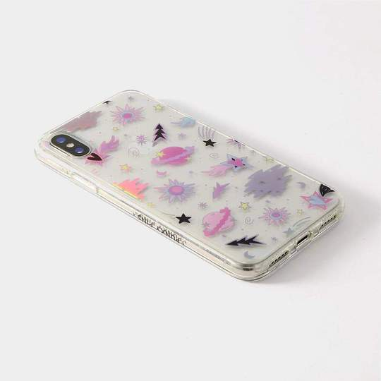 Shimmery Pastel Planets Phone Case