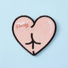 Punky Pins Peachy Butt Embroidered Iron On Patch