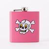 Punky Pins Skull & Crossbones Tattoo Short Pink Hip Flask