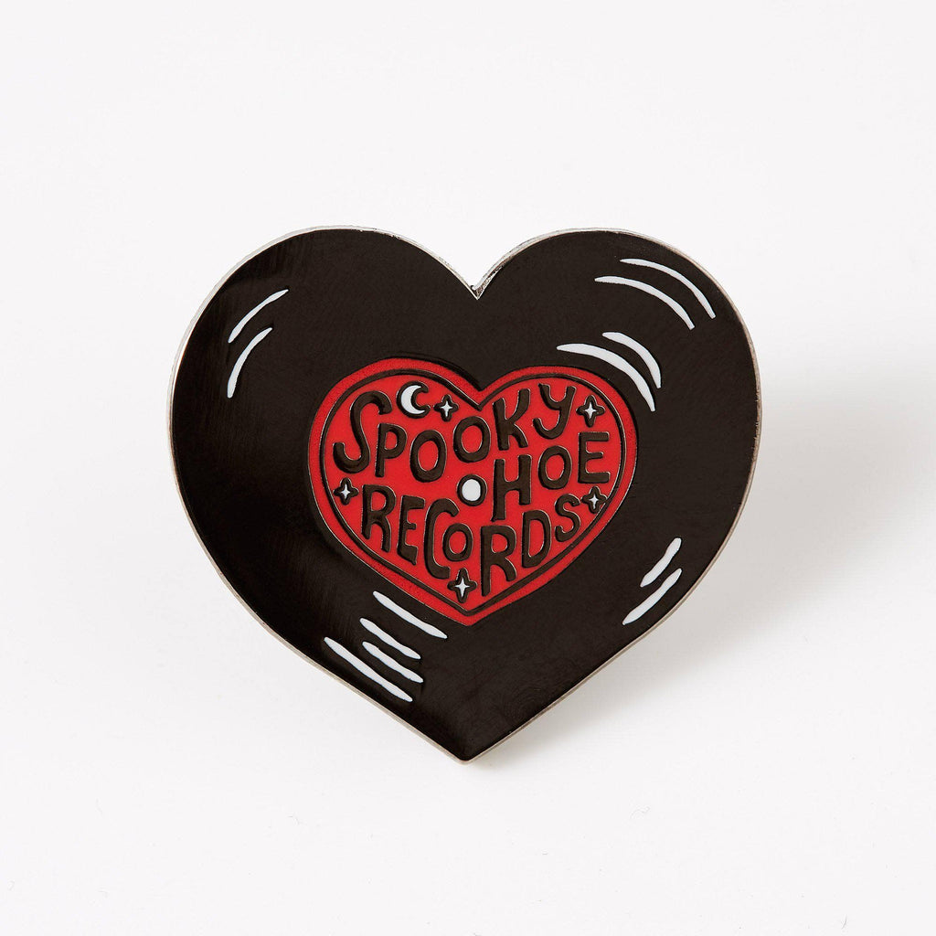 Punky Pins Spooky Hoe Records Enamel Pin