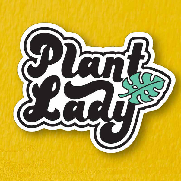 Plant Lady Die Cut Vinyl Sticker