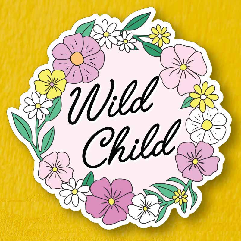 Wild Child Die Cut Vinyl Sticker