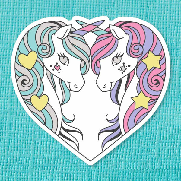 Unicorn Sisters Die Cut Vinyl Sticker