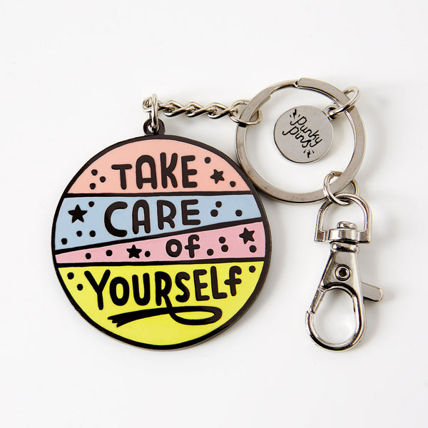 Take Care Of Yourself Enamel Keyring