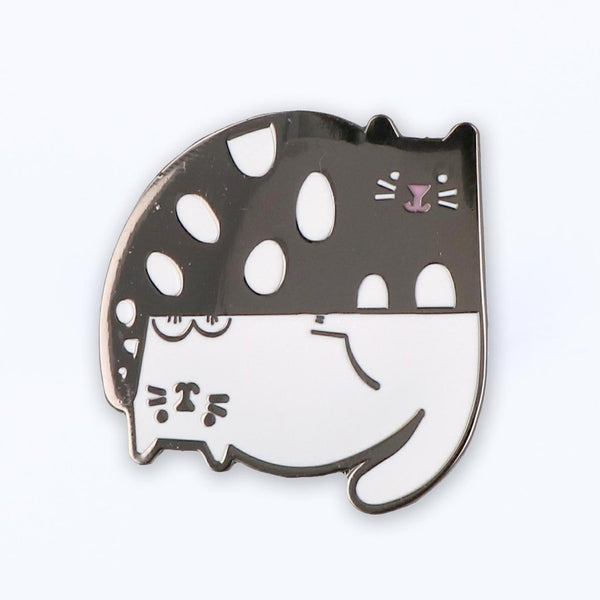 Ying and Yang Cats Enamel Pin