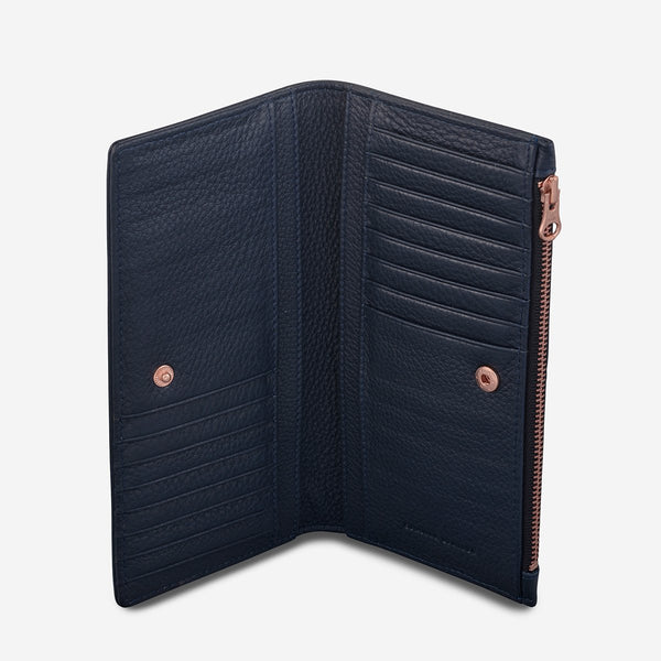 In The Beginning Wallet-Navy Blue