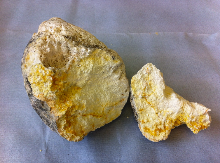 A chunk of ambergris