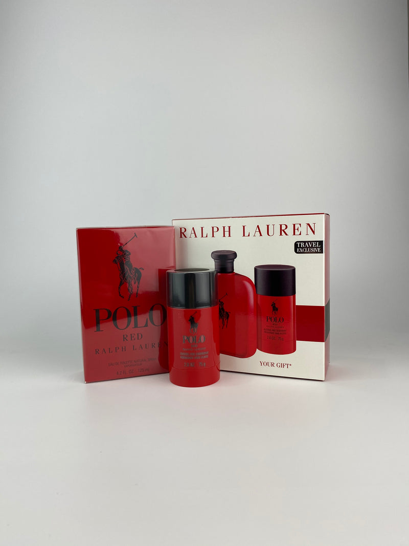 Ralph Lauren Polo Red EDT 125ml (2 Piece Gift Set)