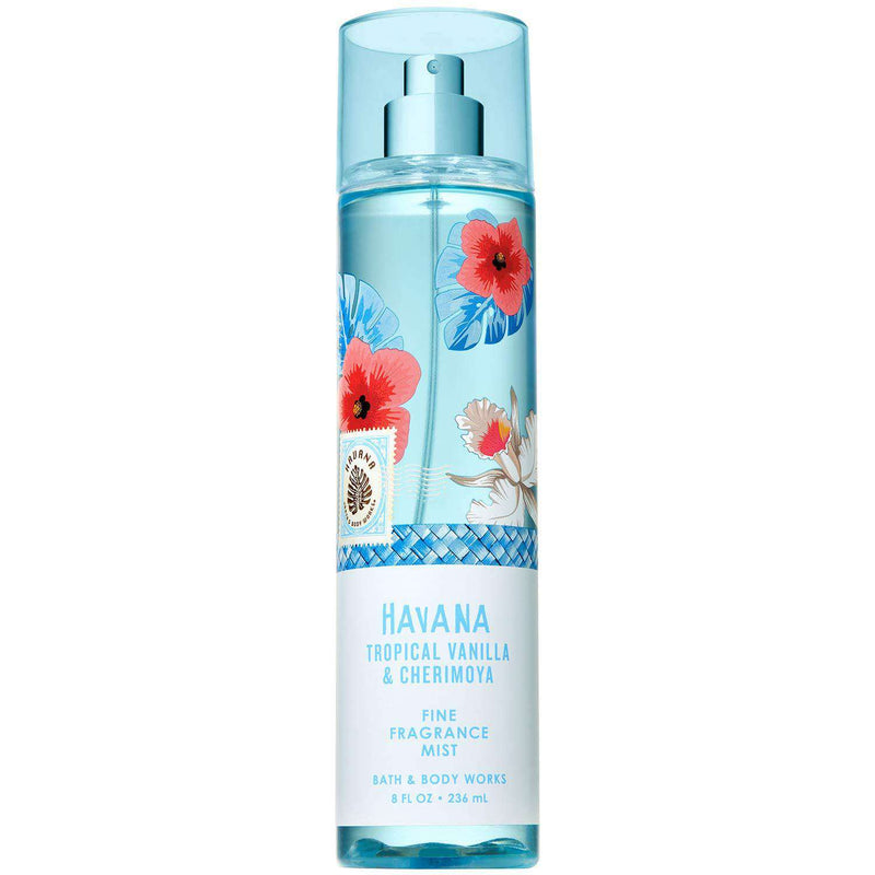 Bath & Body Works Havana Tropical Vanilla & Cherimoya Fragrance Mist 236ml - Perfume Philippines
