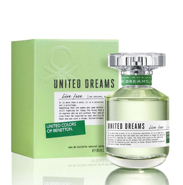 Benetton United Dreams Live Free Women EDT 80ml - Perfume Philippines