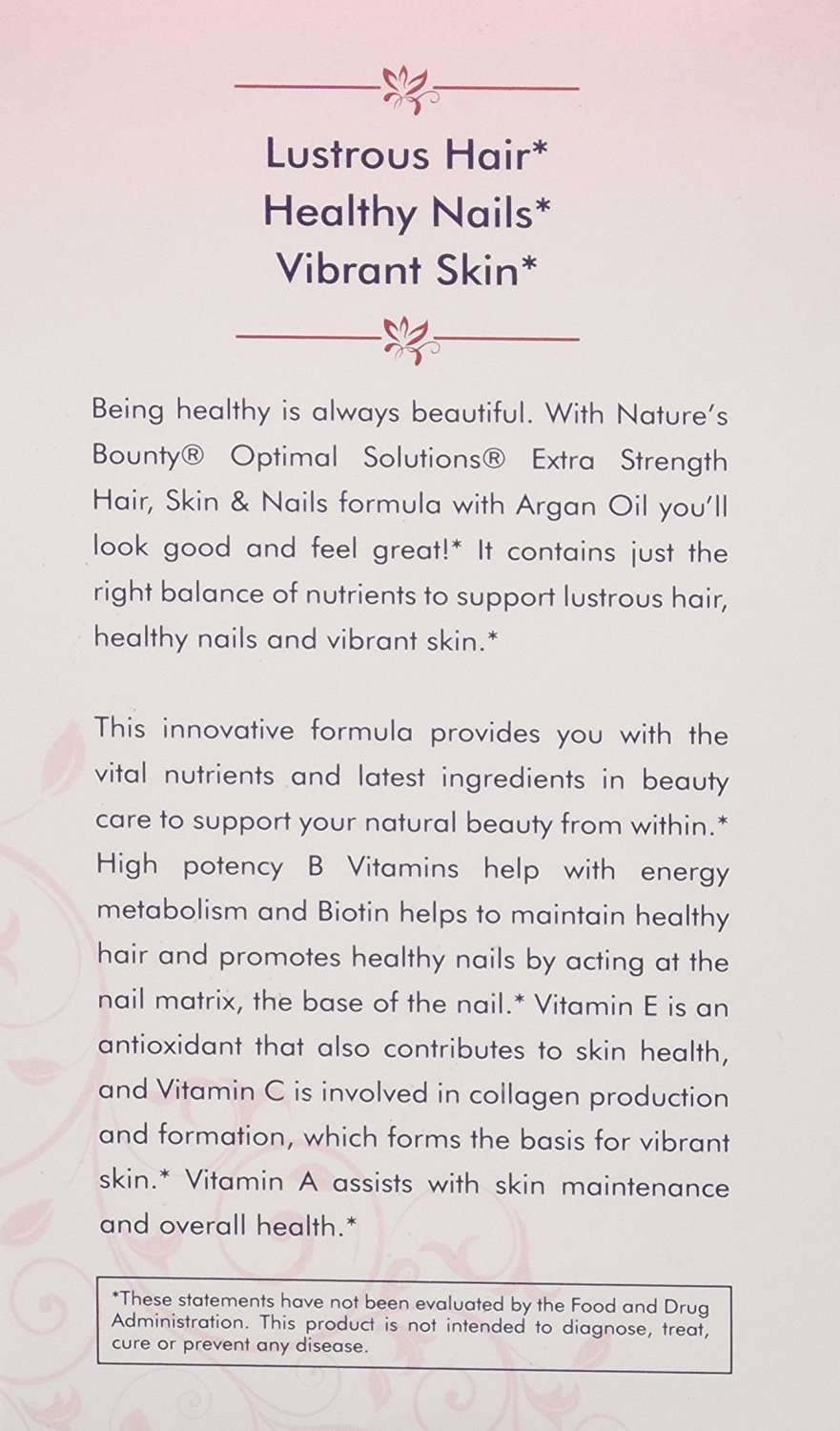 Nature\'s Bounty Hair, Skin, and Nails Argan Oil | Perfume Philippines
