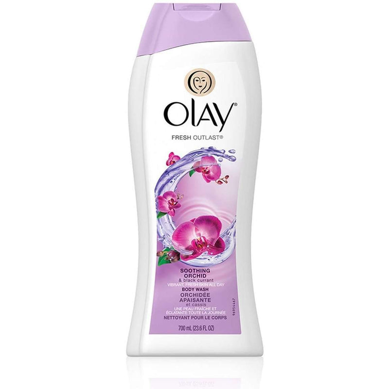 Olay Fresh Outlast Soothing Orchid & Black Currant Body Wash 700 ml - Perfume Philippines